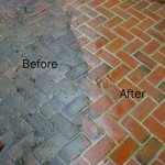 Pressure washing services in oakwood derby, before and after.